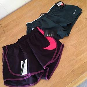 2 Pair of Women's Nike Running shorts